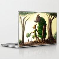 robin hood Laptop & iPad Skins featuring Robin Hood & Little John by Jehzbell Black
