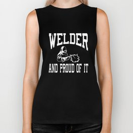 Welder Welding Welder And Proud Of It fabricator weld pipeliner welder Biker Tank