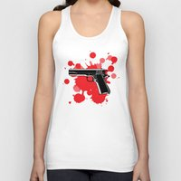 guns Tank Tops featuring Guns Kill by DaceDesigns