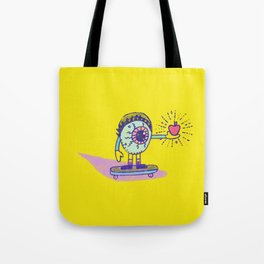 Apple of my Eye Idiom with Yellow Background Tote Bag