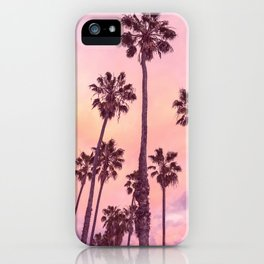 Palms to Pink World iPhone Case