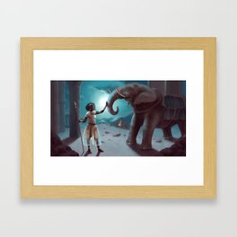 Will you fight for me again ? Framed Art Print