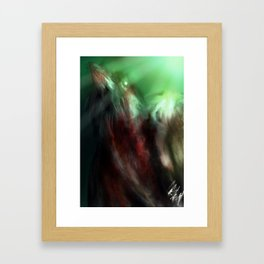 one bird Framed Art Print
