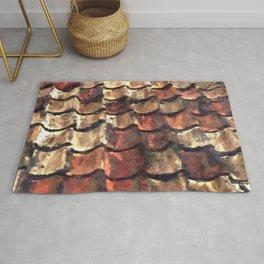 Terra Cotta Roof Tiles Rug