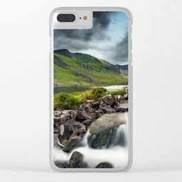 Tryfan and Ogwen Lake Clear iPhone Case