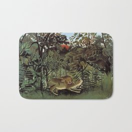 THE HUNGRY LION ATTACKING AN ANTELOPE - ROUSSEAU Bath Mat