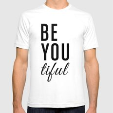 Be You tiful Mens Fitted Tee White SMALL