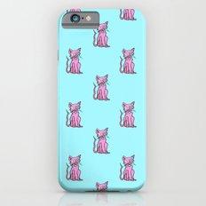 Crazy Cat (Pink/Blue)  iPhone 6s Slim Case