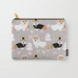 Corgi Wedding Party Bride and Groom Dog Wedding Cute corgi dogs Carry-All Pouch