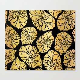 Shiny Gold Leaves Canvas Print