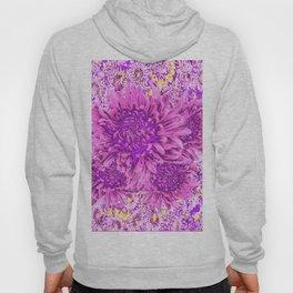 Pink-purple  Chrysanthemum Flowers Art Garden Hoody