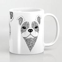 bulldog Mugs featuring Bulldog  by Art & Be