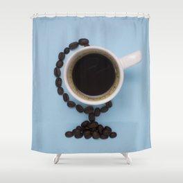Coffee world Shower Curtain