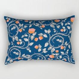 Midnight Florals Rectangular Pillow