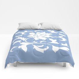 Oriental Flower - Serenity Blue Comforters