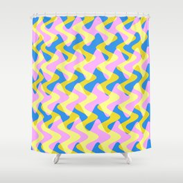 Crosswave Pink - Electron Series 003 Shower Curtain