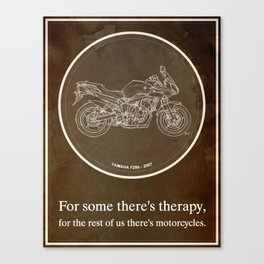 Yamaha FZ6b 2007 art print and motorcycle quote, gift for men Canvas Print