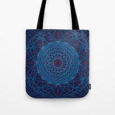 Geometric Circle Blue/Red Tote Bag