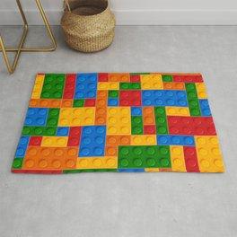 Kid's Construction Brick Toy Rug
