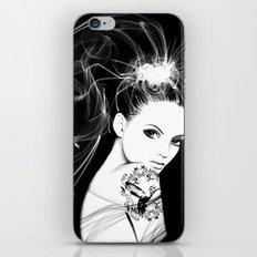 Smoke Girl iPhone & iPod Skin