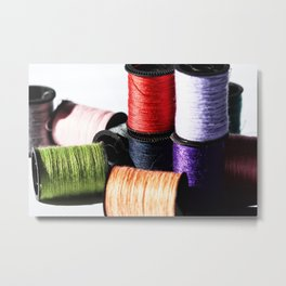 Spools of Thread Metal Print