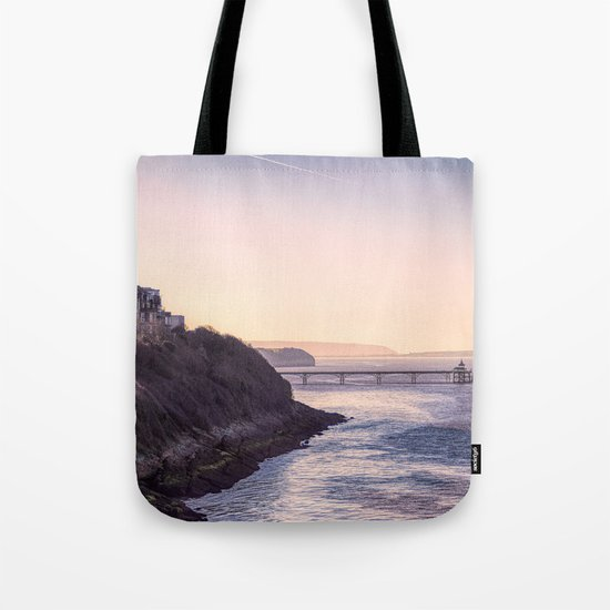 Clevedon Sea front Tote Bag