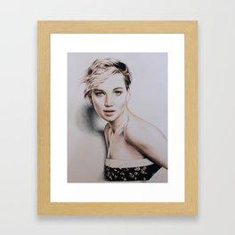 Jennifer Lawrence Drawing Framed Art Print