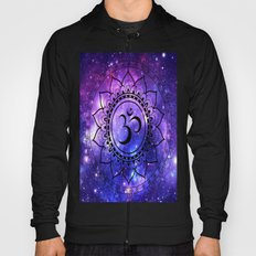 Om Mandala: Purple Blue Galaxy Hoody