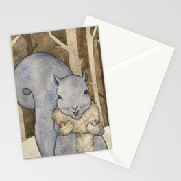 squirrel in the woods Stationery Cards