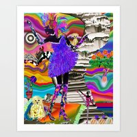 mercedes Art Prints featuring Merci Mercedes by jennifer pick