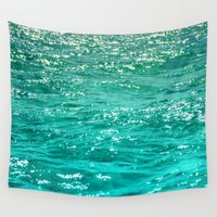 patrick Wall Tapestries featuring SIMPLY SEA by Catspaws