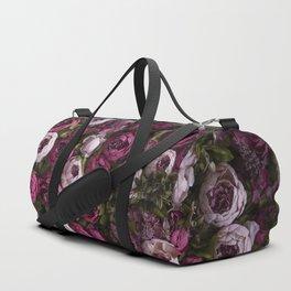 Dark and light pink peonies Duffle Bag