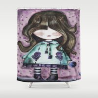 girly Shower Curtains featuring girly by norjene