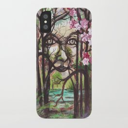 SPIRIT- Fantasy Art, Original Acrylic Painting. iPhone Case