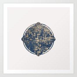 Blue Squircle Art Print