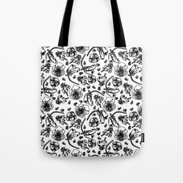 B/W flowers Tote Bag