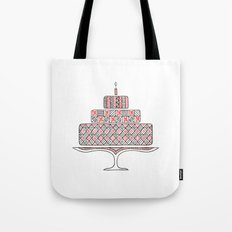 Patterned Cake Tote Bag