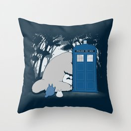 Curious Forest Spirits Throw Pillow