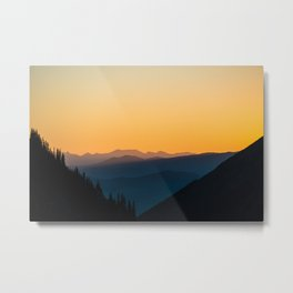 Sunrise Layers Metal Print