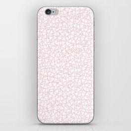 Pink and White Triangles Dizzy All-Over Pattern iPhone Skin