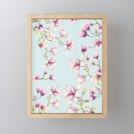 Delicate Magnolia Framed Mini Art Print