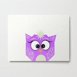 Boxy Owl Metal Print
