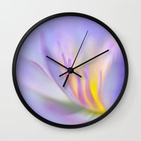 lotus Wall Clocks featuring Lotus by Eugenie