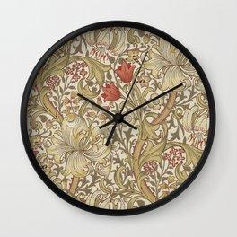 William Morris Golden Lily John Henry Dearle Wall Clock