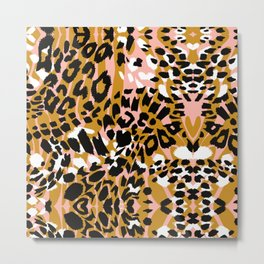 Abstract leopard pink 56 Metal Print