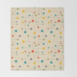 Mid-Century Dots Pattern Throw Blanket