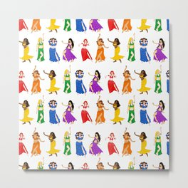 Belly Dancers - Rainbow Colors Metal Print