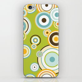 Colorful circle design iPhone Skin
