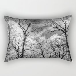 It's cloudy over the woods Rectangular Pillow