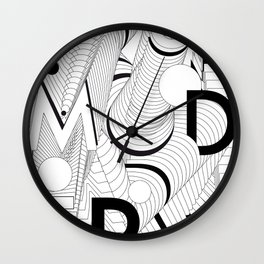 History of Art in Black and White. Postmodern Wall Clock